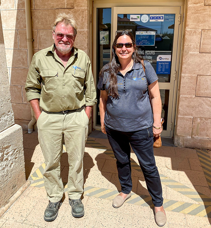 Streaky Bay CDP Supervisor, John, pictured with Ceduna CDP Office Manager, Nikki.
