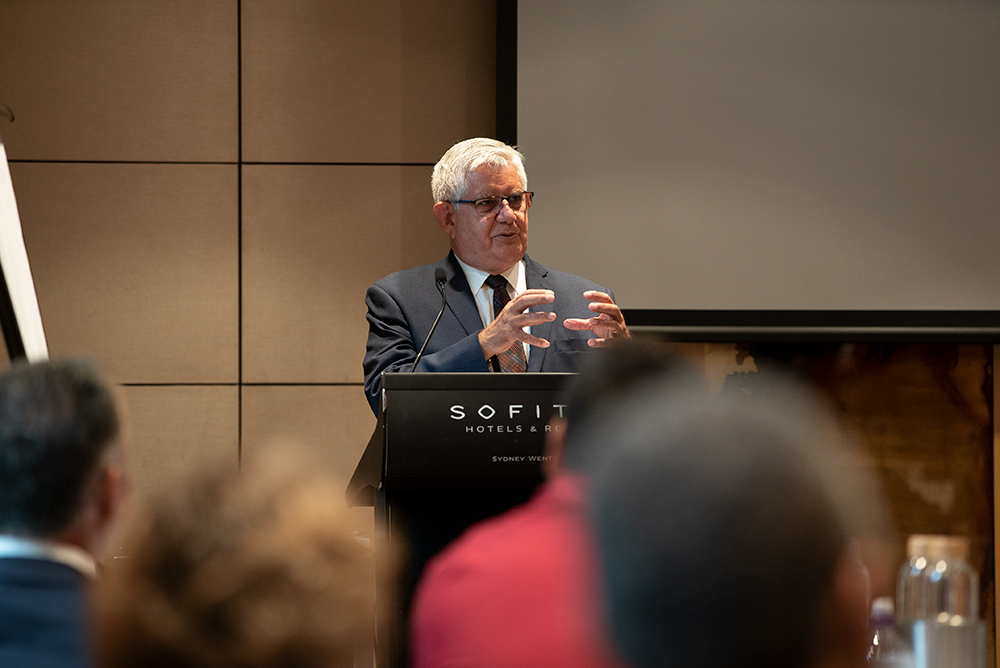 The Honourable Ken Wyatt AM, MP, Minister for Indigenous Australians talking at the Community Development Program Leadership forum